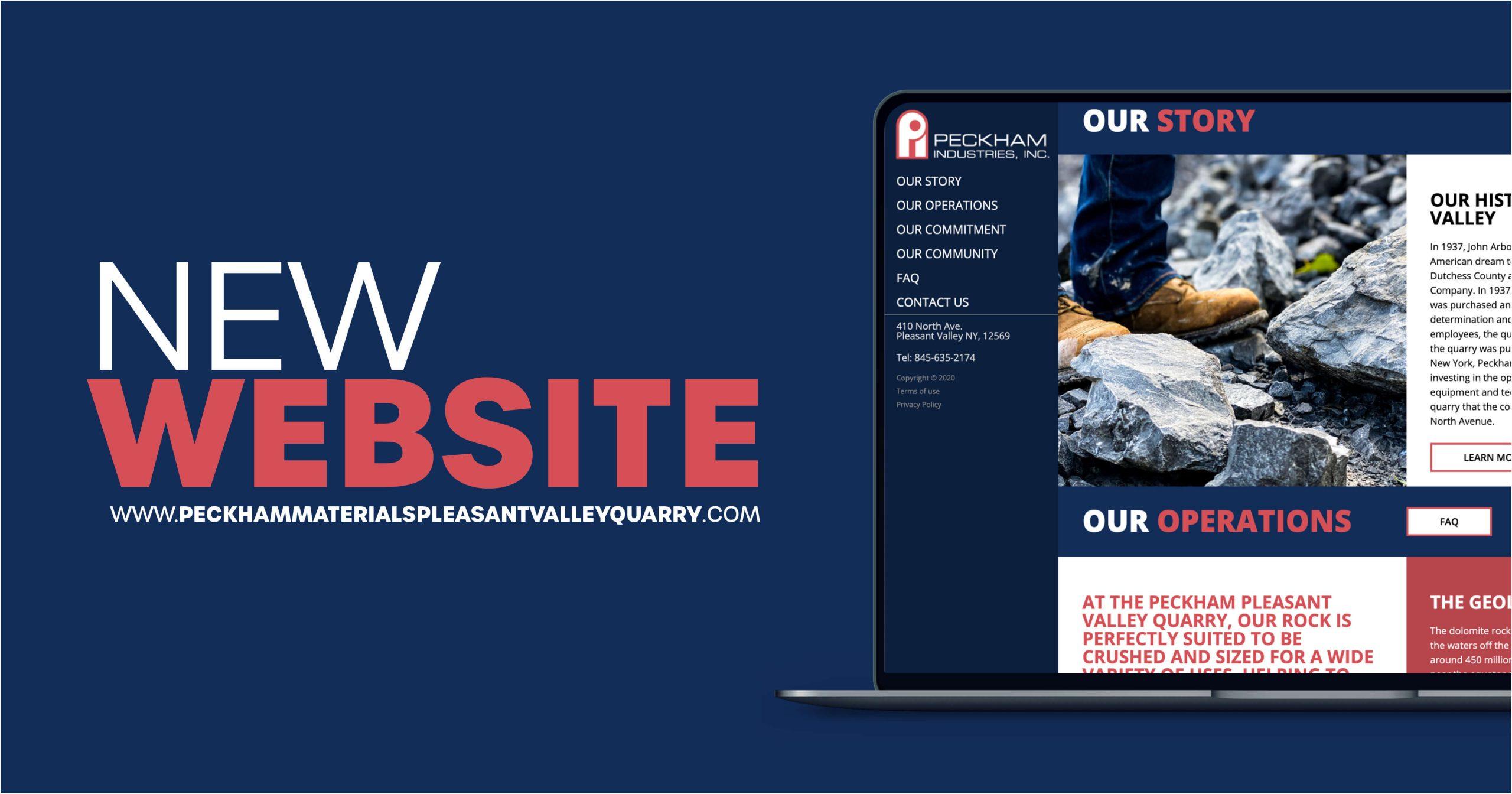 Pleasant Valley Quarry website graphic